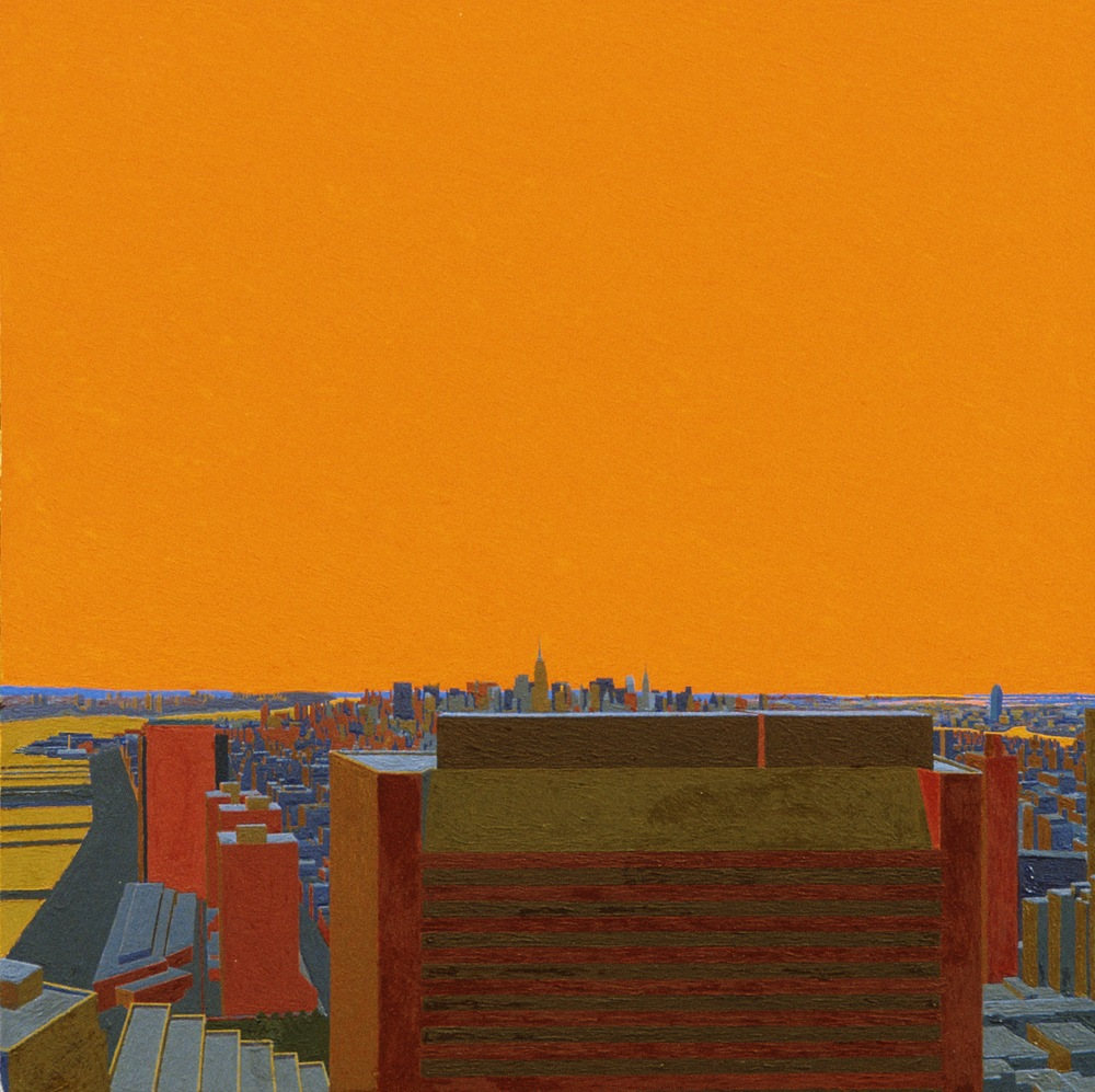 Manhattan I, 1997, oil on panel, 19 1/4 x 19 1/4 inches