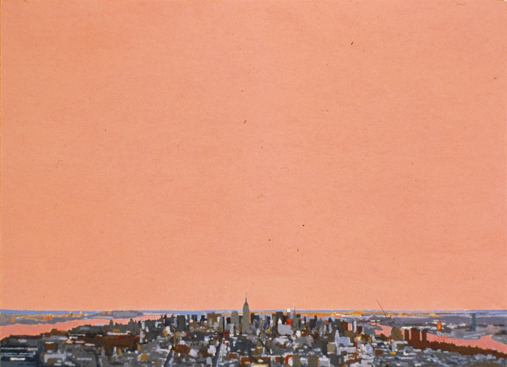 Manhattan II, 1998, oil on panel, 8 x 11 inches