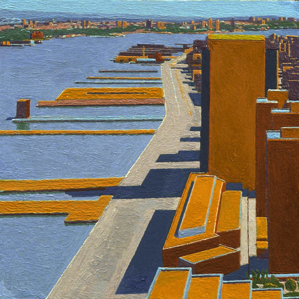 Hudson I, 1997, oil on panel, 9 1/2 x 9 1/2 inches