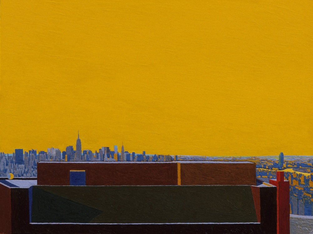 Queens / Manhattan, Afternoon , 1997, oil on panel, 16 x 20 inches