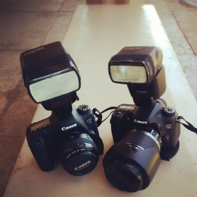My current weapons of choice for today's shoot  #50mm #6D #70D #mermaids #hawaii #beach #kuhioday