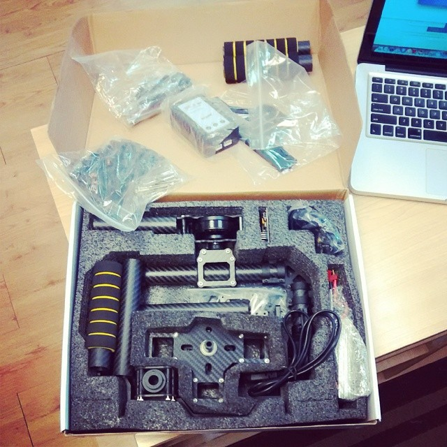 The faux Movi just arrived!! So excited to use it. Gotta put it together & program it first though.  #movi #cameragear #video #film #stabilizer