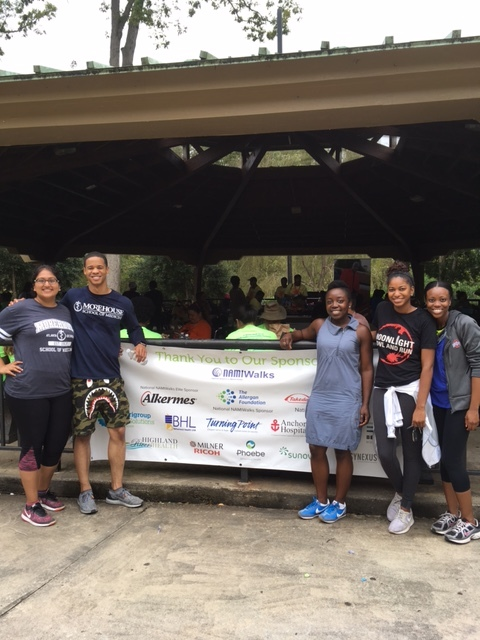 Dr. Vinson, a board member ofthe Georgia Chapter of the National Alliance for Mental Illness, lead a team of her medical students at Morehouse School of Medicine in the annual NAMI Walk, an event to raise awareness and a fundraiser for mental health advocacy efforts. Her practice, the Lorio Psych Group, was also sponsor.