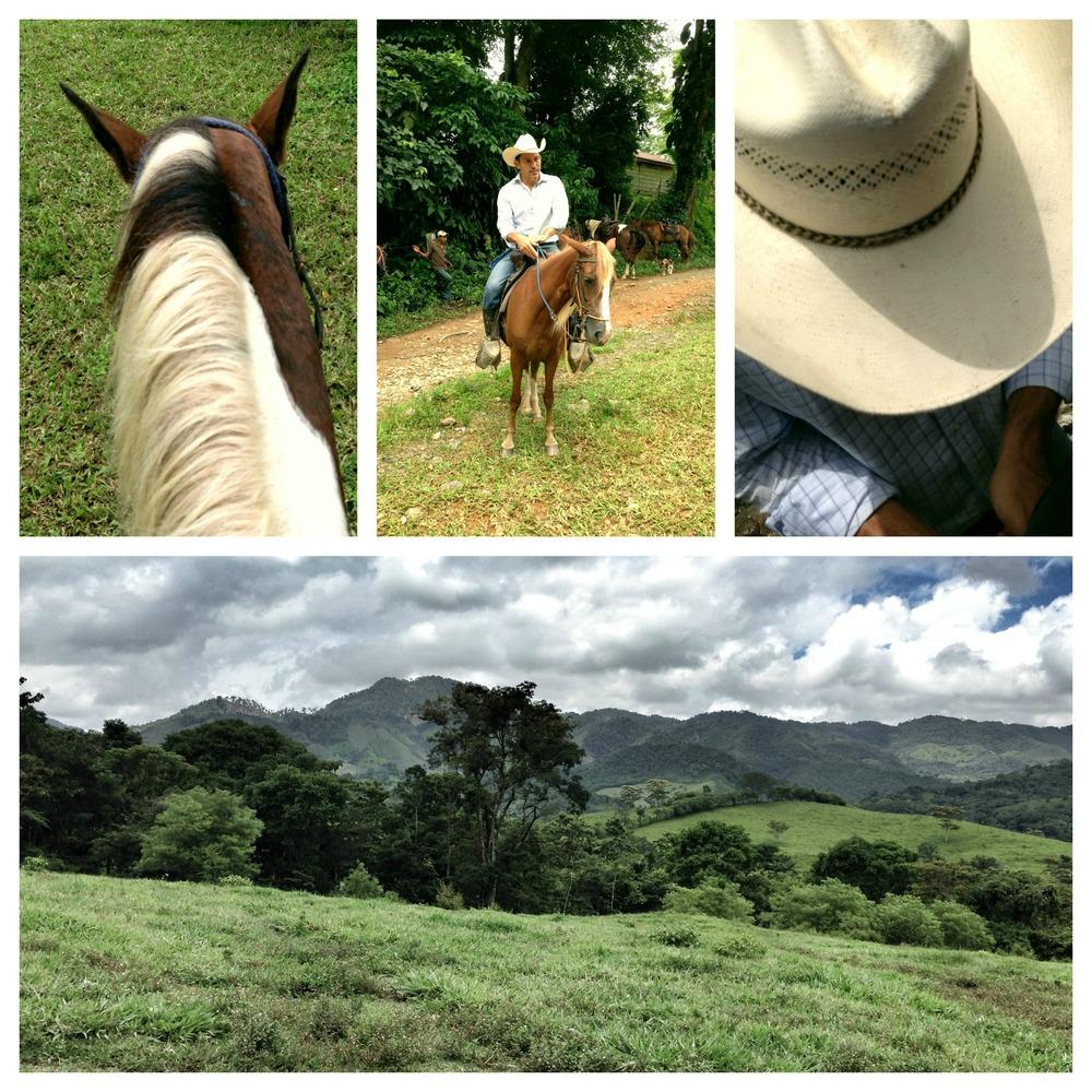 Horseback riding at Finca el Cisne, Copán