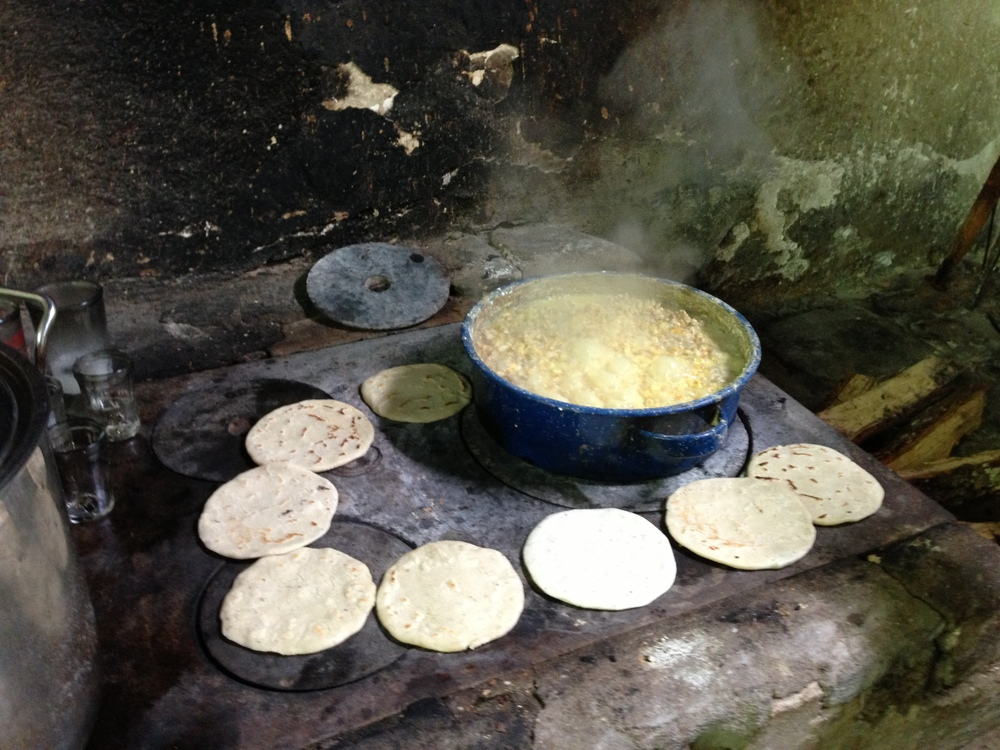 Tortillas on the plancha