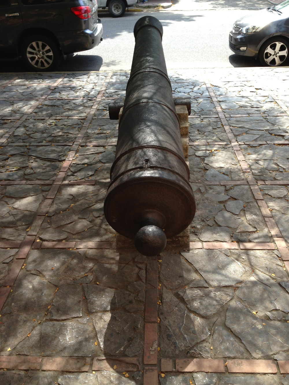 Cannon at the entrance to the museum