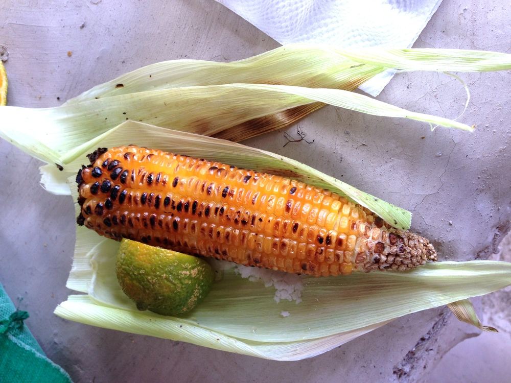 Roasted Corn with Lemon and Salt