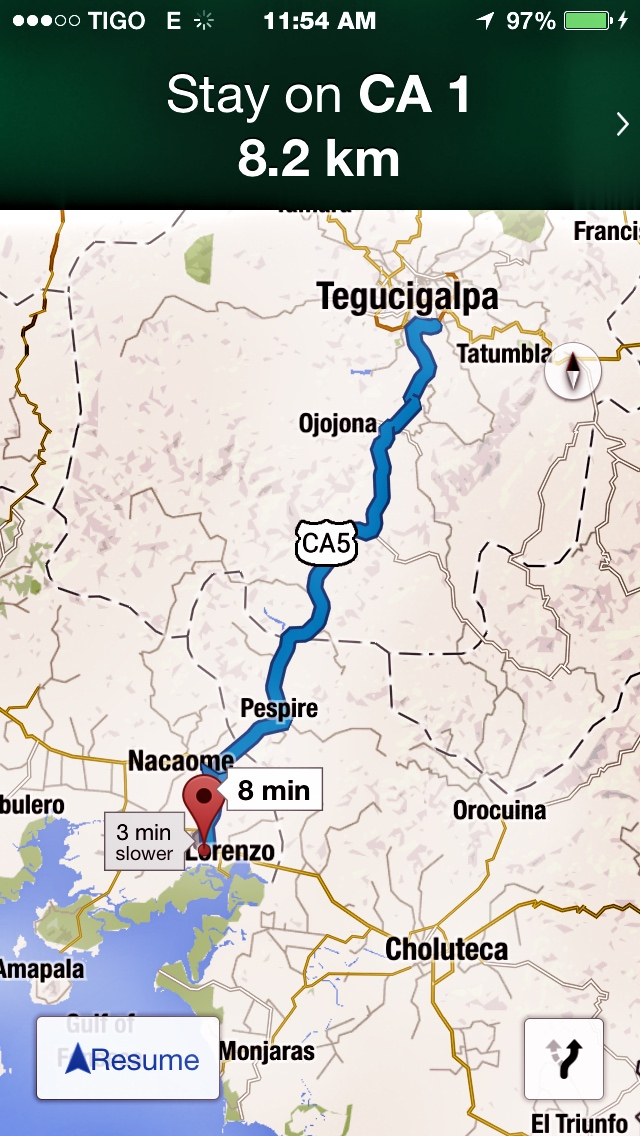 Traveling from Tegucigalpa to San Lorenzo Valle