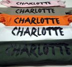 Charlotte, North Carolina t shirts
