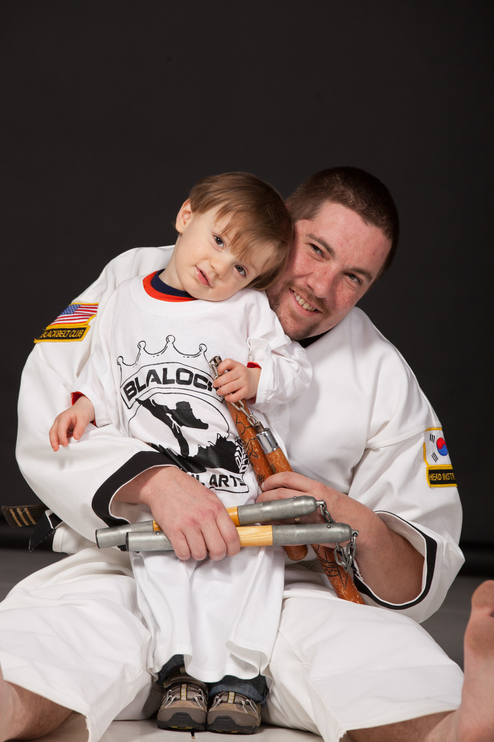 Father and son martial arts photo