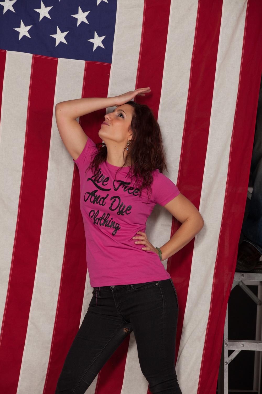 American model with American attitude