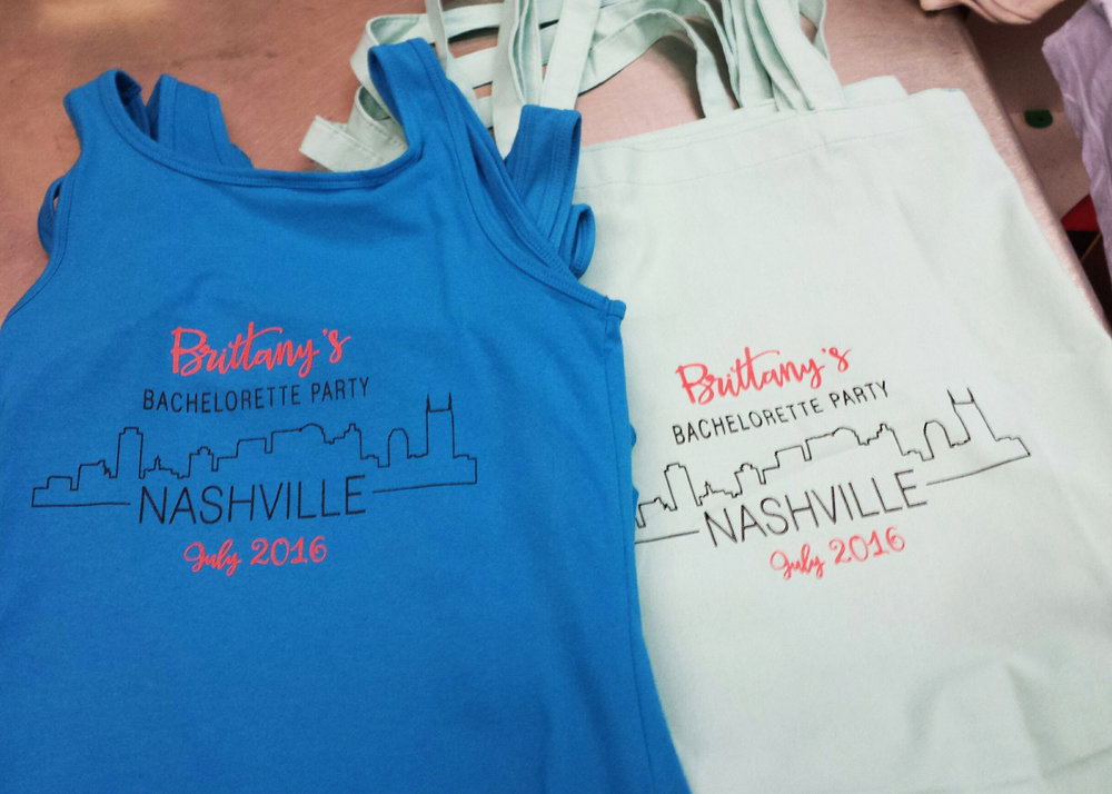 Nashville bachelorette party tote bags and tank tops.jpg