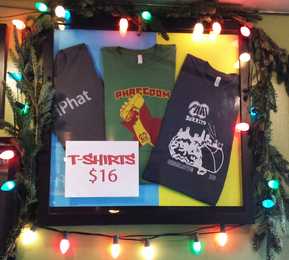 Phat Burrito 2015 Christmas T shirts for sale Live Free and Dye Clothing Charlotte.jpg