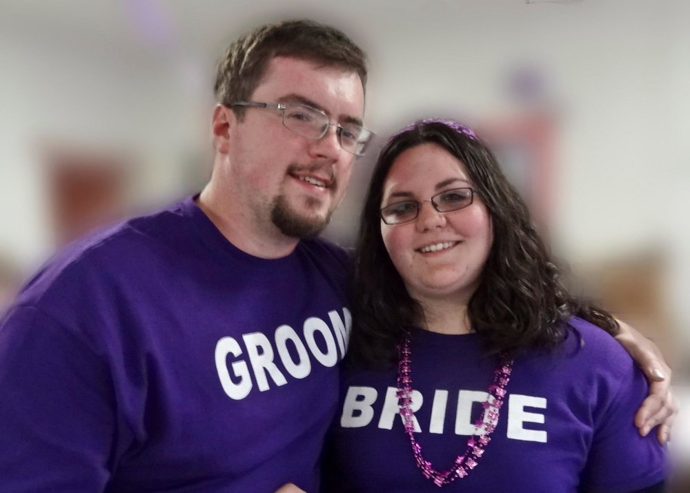 Bride and Groom t shirt photo live free and dye clothing printing.jpg