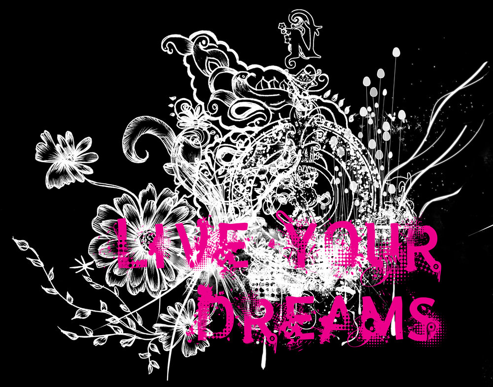 live your dreams girls tee live free and dye logo graphic design