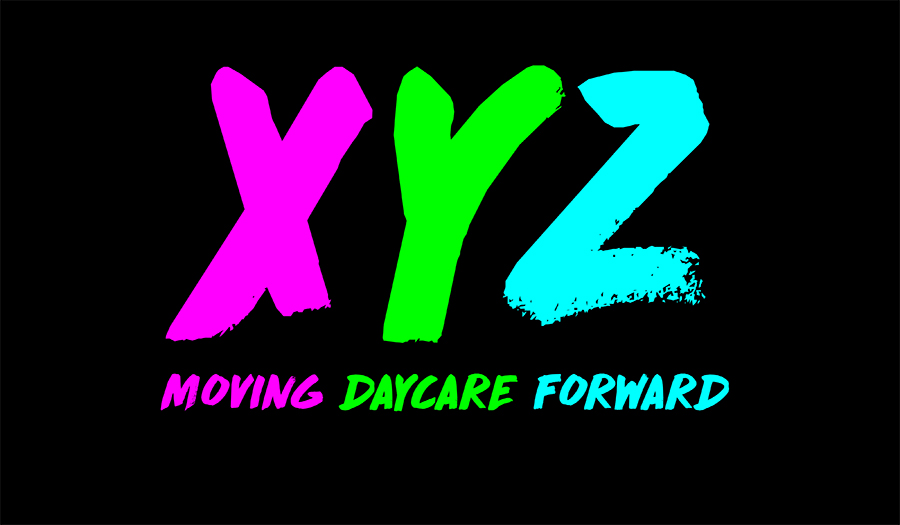 XYZ daycare logo live free and dye design charlotte