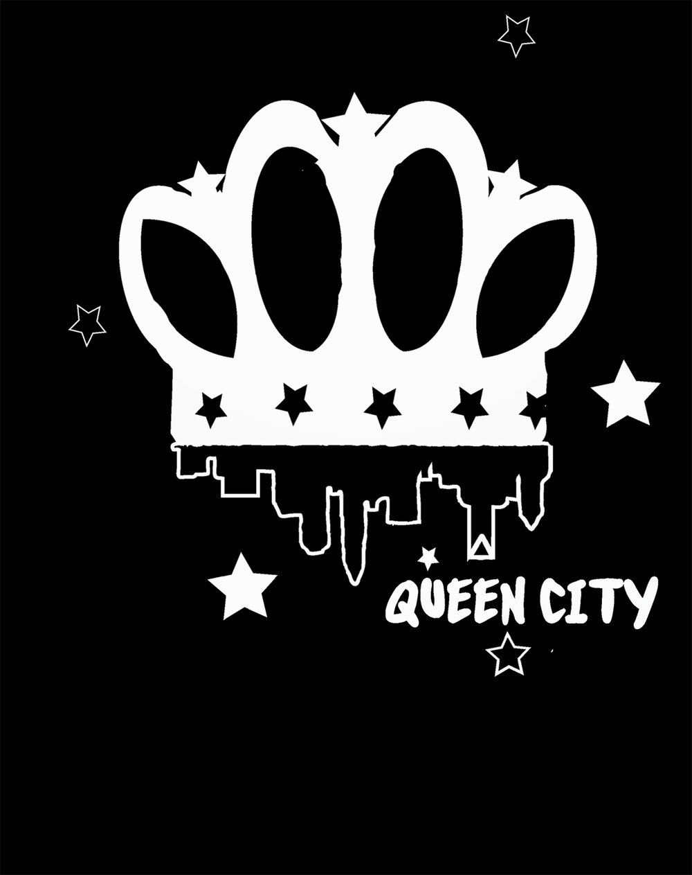 qyeen city logo t shirt crown town upside down.jpg