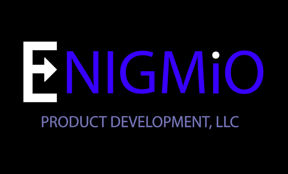 enigmio product development logo live free and dye