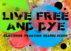 Screen printing t shirt for your business at Live Free And Dye clothing Charlotte