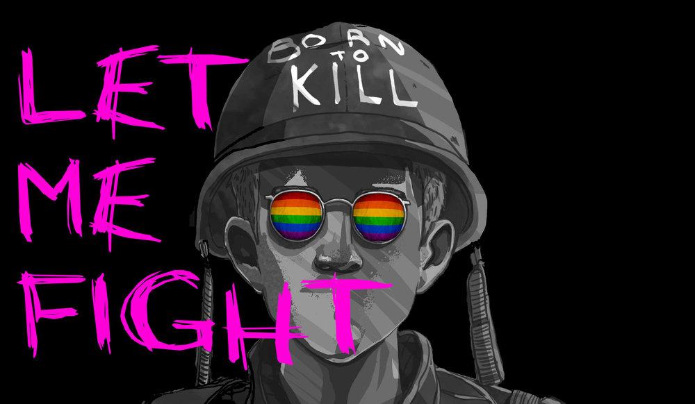 Let me fight t political poster