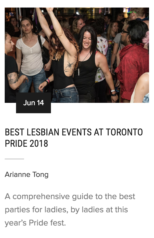 Lesbian Events Pride 2018