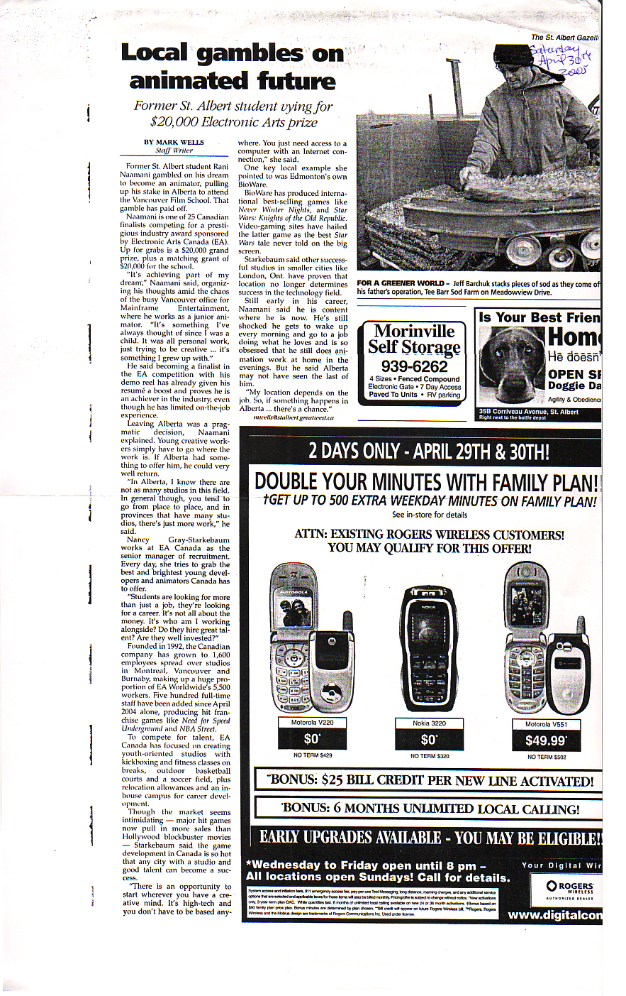 Newspaper Mention Saint Albert Gazette 2.jpg