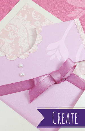 Handmade greeting cards and event invitations.