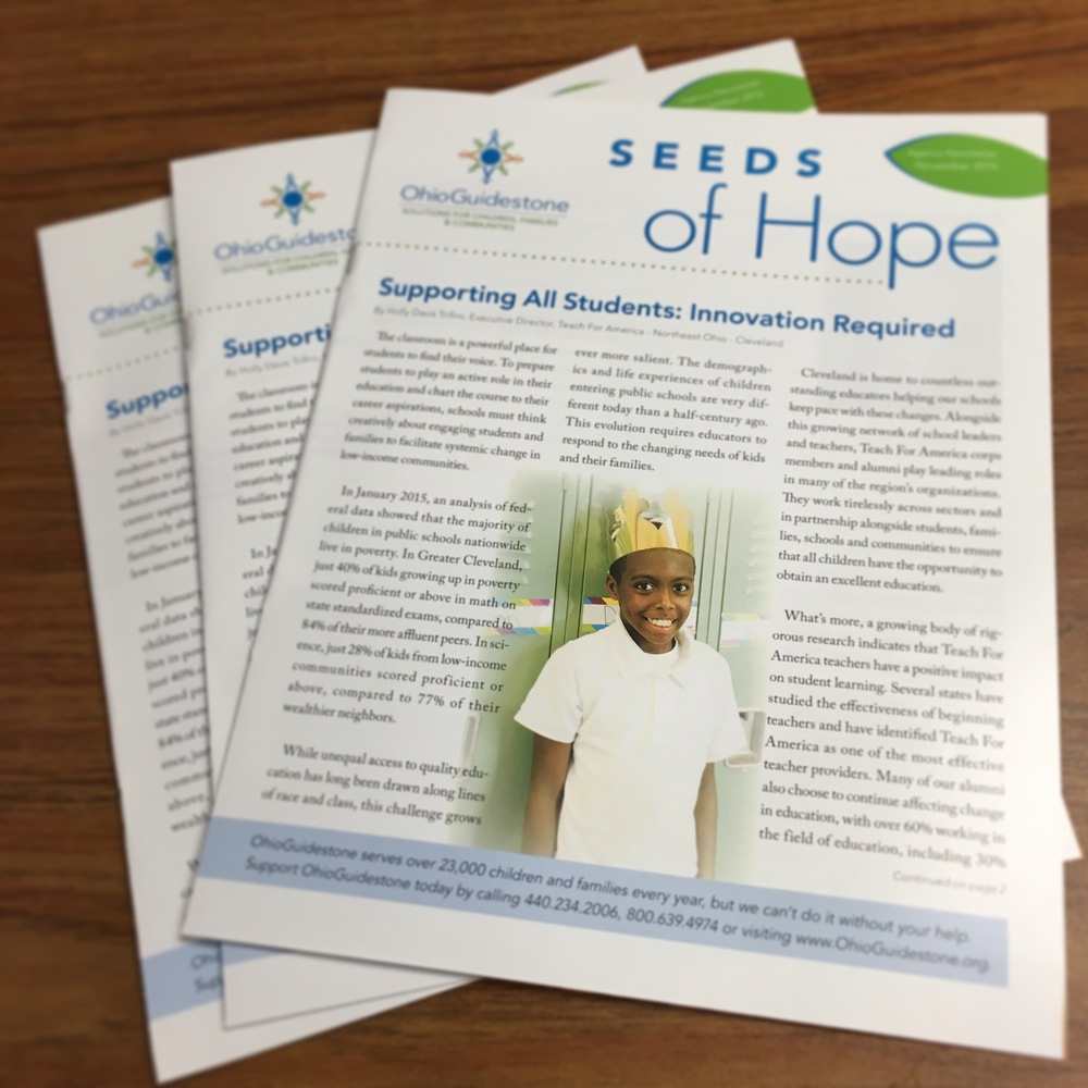Seeds of Hope newsletter