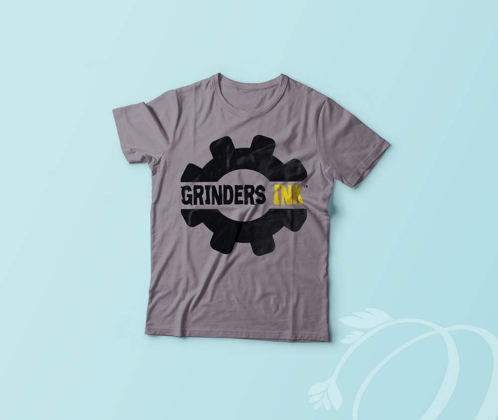 Grinders Ink Logo Shirt mock up