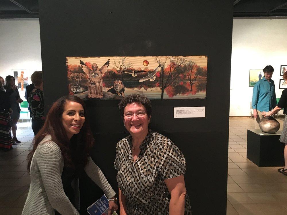 With Sister Rosaria, Graphic Design Professor
