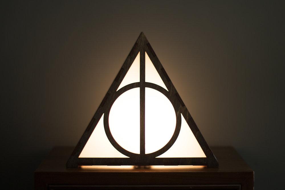 Deathly Hallows lamp 1
