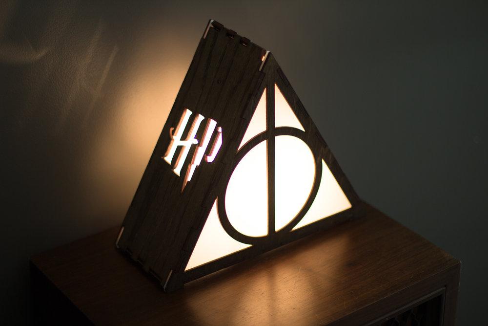 Deathly Hallows lamp 2