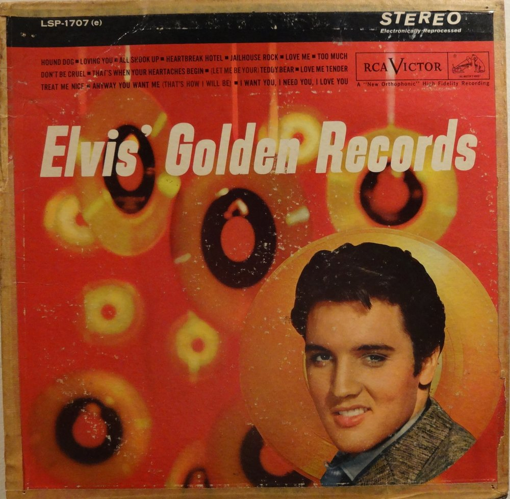 This is the actual first Elvis album Tony's parents brought for him.