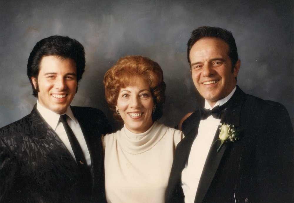 Tony with his Mom & Dad ...studio portrait. sometime in the 90's.