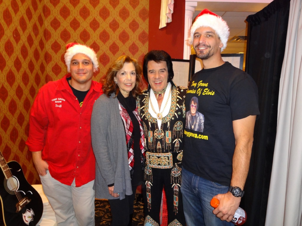 Backstage before December 3, 2016 Christmas Show. L/R Josh, Marie, Tony & Enis