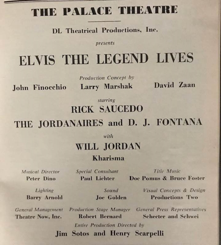 Copy of actual page from 1978 Playbill. -