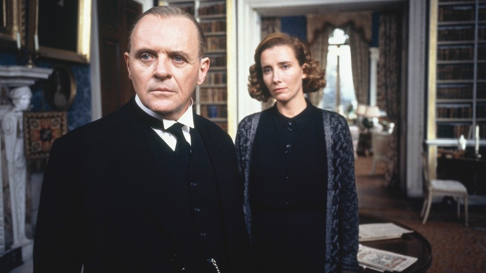 A still from the adapted film for  Remains of the Day   (1993) starring Anthony Hopkins and Emma Thompson.