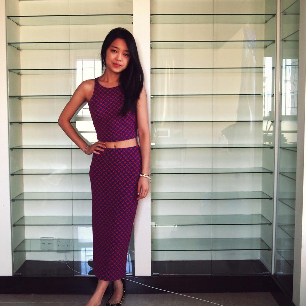 Glamorous Crop Top &  Midi Skirt