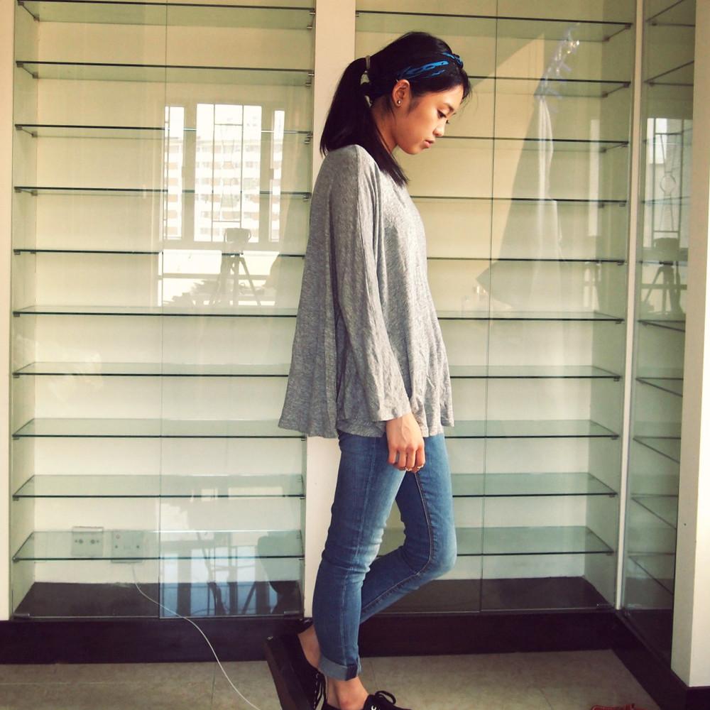 McQueen Scarf, COS top, Zara Jeans