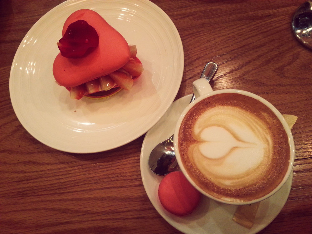 Valentine's lunch at  Sunflour  in Shanghai. Highly recommend. Yes - I got the VDAY special, 'Strawberry Love' for myself.