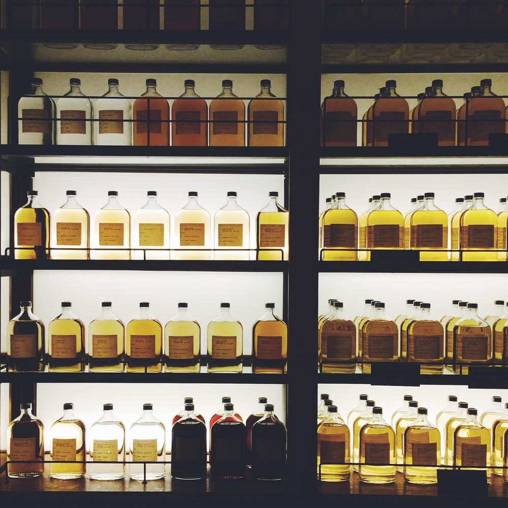 Yamazaki Whiskey Distillery.