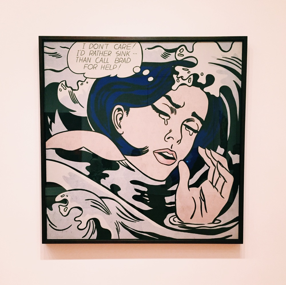 Roy Lichtenstein //  Drowning Girl  (1963)