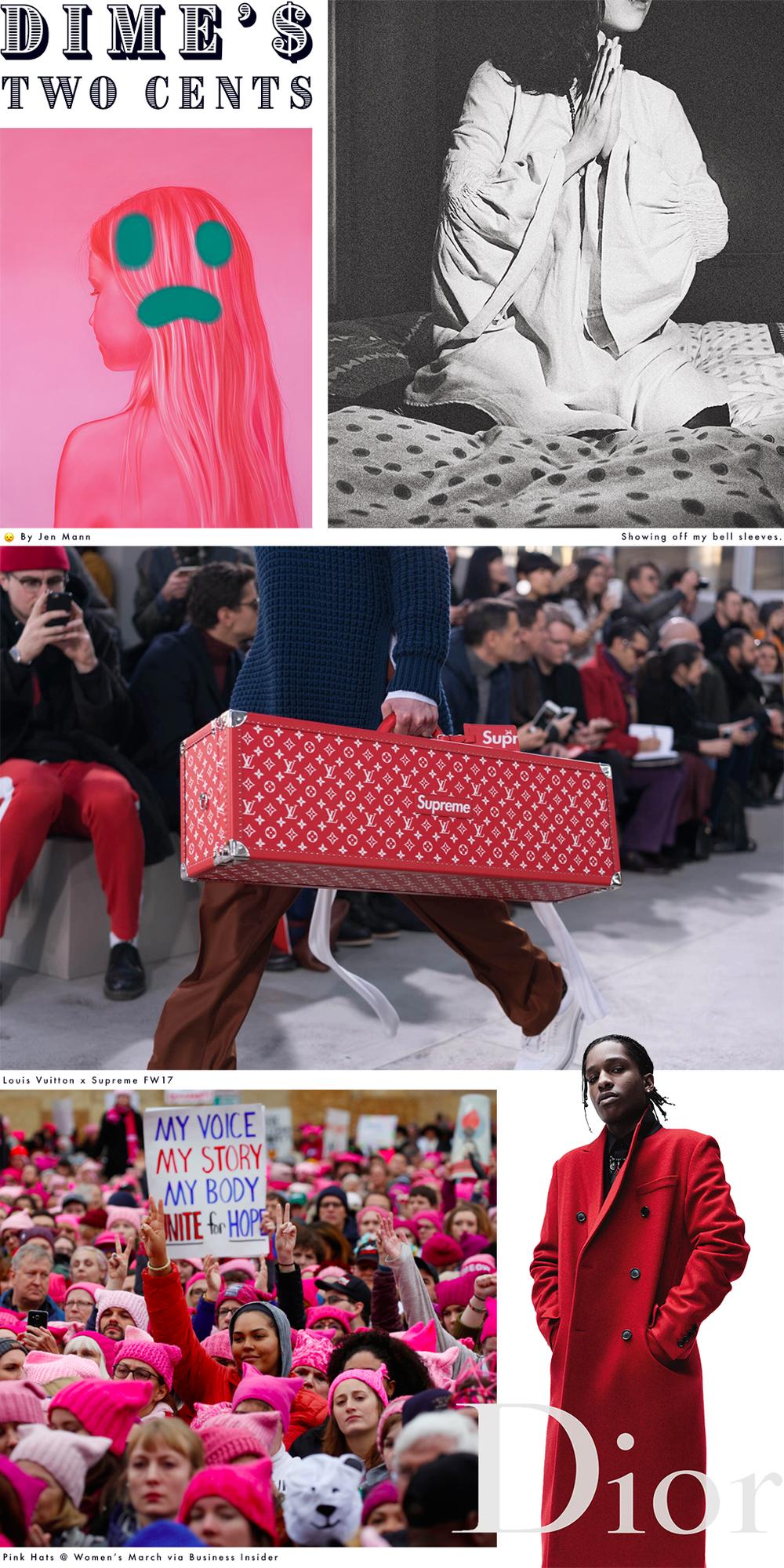 Jen Mann  //  @EMCEEDIME  //  LVxSupreme  //  Women's March  //  A$AP Rocky For Dior