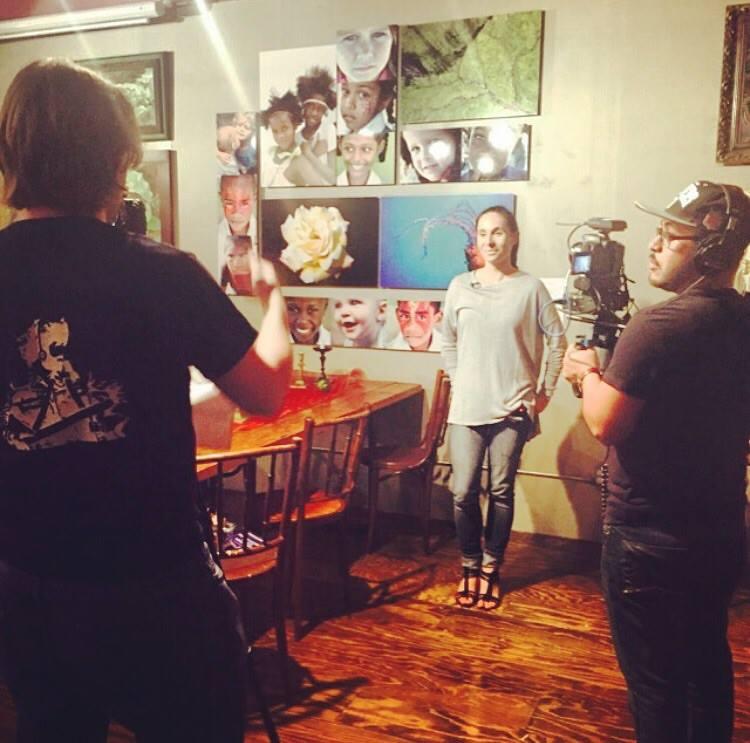 Interviewing photographer Zan Morris.