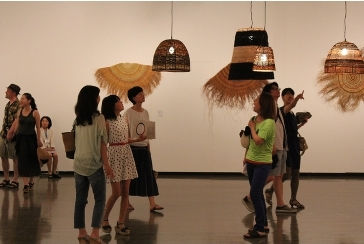 Yuta Badayala Lampshades at  2nd International Triennale of Kogei , Japan. Image courtesy Obect Australian Design Centre.