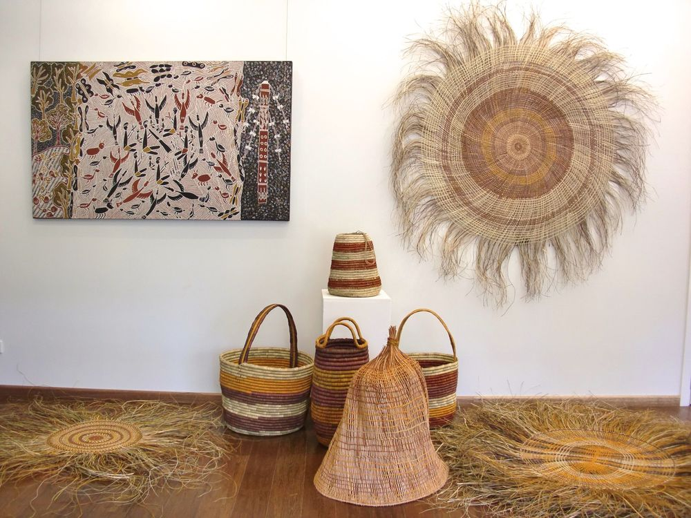 Installation view: Elcho Island Arts Gallery, 7 Pavonia Place, Nightcliff, Darwin NT