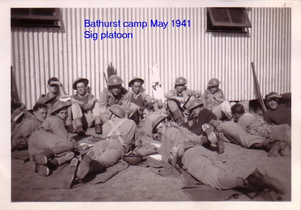 Bathurst Camp May 1941 Sigs Platoon