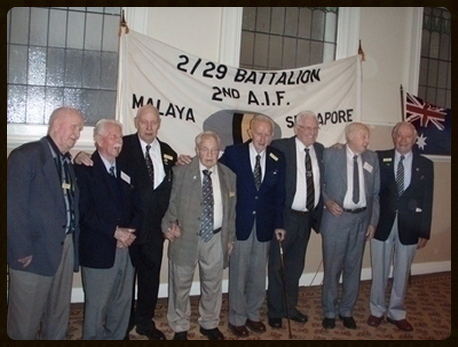 Left to right: Ben West, John Roxburgh, George Tite, George Garner, Bob Christie, Bill Young, Wal Snowden and Hal Thirlwell.