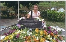 Kerry Barker at Parit Sulong Memorial