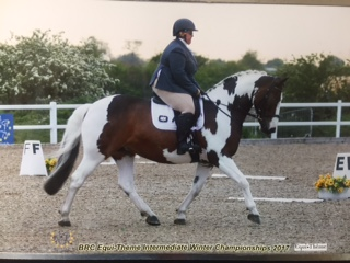 Sarah on Xante at the BRC Dressage Championships.
